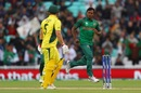 Rubel Hossain celebrates Aaron Finch's dismissal, Australia v Bangladesh, Champions Trophy 2017, The Oval, London, June 5, 2017