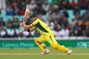 David Warner looks on after driving the ball, Australia v Bangladesh, Champions Trophy 2017, The Oval, London, June 5, 2017