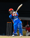 Mohammad Nabi hits over the top, West Indies v Afghanistan, 3rd T20I, St Kitts, June 5, 2017