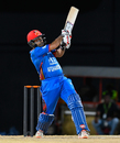Asghar Stanikzai flays one to the leg side, West Indies v Afghanistan, 3rd T20I, St Kitts, June 5, 2017
