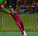 Rovman Powell makes a one-handed stop on the boundary, West Indies v Afghanistan, 3rd T20I, St Kitts, June 5, 2017