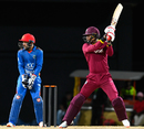 Marlon Samuels cuts one square, West Indies v Afghanistan, 3rd T20I, St Kitts, June 5, 2017