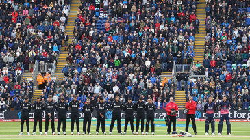 Play was halted at 11am to observe a minute's silence for the victims of the London Bridge attack