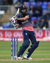Moeen Ali was looking dangerous until he was well caught at short backward square, England v New Zealand, Champions Trophy 2017, Cardiff, June 6, 2017