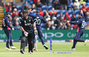 Luke Ronchi fell in the first over of the chase, England v New Zealand, Champions Trophy 2017, Cardiff, June 6, 2017