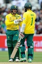 Quinton de Kock and Hashim Amla added 40 in 50 balls for the first wicket, Pakistan v South Africa, Champions Trophy, Group B, Edgbaston, June 7, 2017