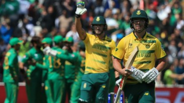 AB de Villiers was dismissed for a golden duck for the first time in ODIs