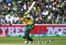 Faf du Plessis chopped on for 26, Pakistan v South Africa, Champions Trophy, Group B, Edgbaston, June 7, 2017