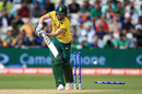 Wayne Parnell loses his off stump to a beauty from Hasan Ali, Pakistan v South Africa, Champions Trophy, Group B, Edgbaston, June 7, 2017