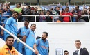 The Indian players line up for work, the fans line up for play, India v Sri Lanka, Champions Trophy 2017, The Oval, London, June 8, 2017