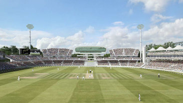 An artist's impression of the proposed redevelopment of the Nursery End at Lord's