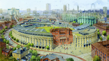 An artist's impression of the proposed redevelopment at The Oval