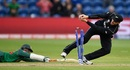 Shakib Al Hasan survives a run out attempt by Martin Guptill, New Zealand v Bangladesh, Group A, Champions Trophy 2017, Cardiff, June 9, 2017