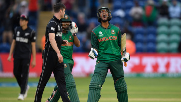 Mahmudullah celebrates a famous victory