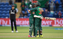 Mahmudullah and Shakib Al Hasan embrace during their record stand, New Zealand v Bangladesh, Group A, Champions Trophy 2017, Cardiff, June 9, 2017