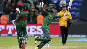 Mahmudullah and Mosaddek Hossain exult after Bangladesh's win