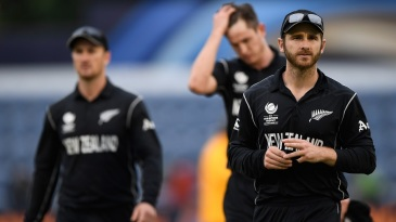 Kane Williamson is dejected after New Zealand are knocked out