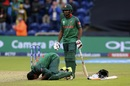 Mahmudullah celebrates his century with the <i>sajdah</i>, New Zealand v Bangladesh, Group A, Champions Trophy 2017, Cardiff, June 9, 2017