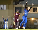 Dawlat Zadran trapped Kieran Powell lbw for 2, West Indies v Afghanistan, 1st ODI, St Lucia, June 9, 2017
