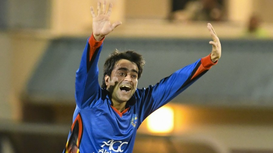 Rashid Khan lets rip with an appeal