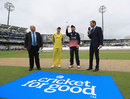 Eoin Morgan flips the coin, England v Australia, Champions Trophy, Group A, Edgbaston, June 10, 2017
