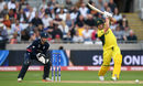 Aaron Finch drives through the covers, England v Australia, Champions Trophy, Group A, Edgbaston, June 10, 2017