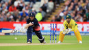 Eoin Morgan reverse-sweeps on his way to 87, England v Australia, Champions Trophy, Group A, Edgbaston, June 10, 2017