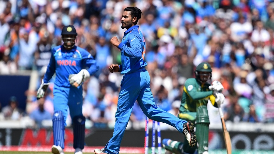 Ravindra Jadeja did not concede any boundaries in his 10 overs, India v South Africa, Champions Trophy 2017, Group B, The Oval, London, June 11, 2017