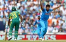 Jasprit Bumrah can't believe the umpire didn't award him the wicket of Andile Phehlukwayo, India v South Africa, Champions Trophy 2017, Group B, The Oval, London, June 11, 2017