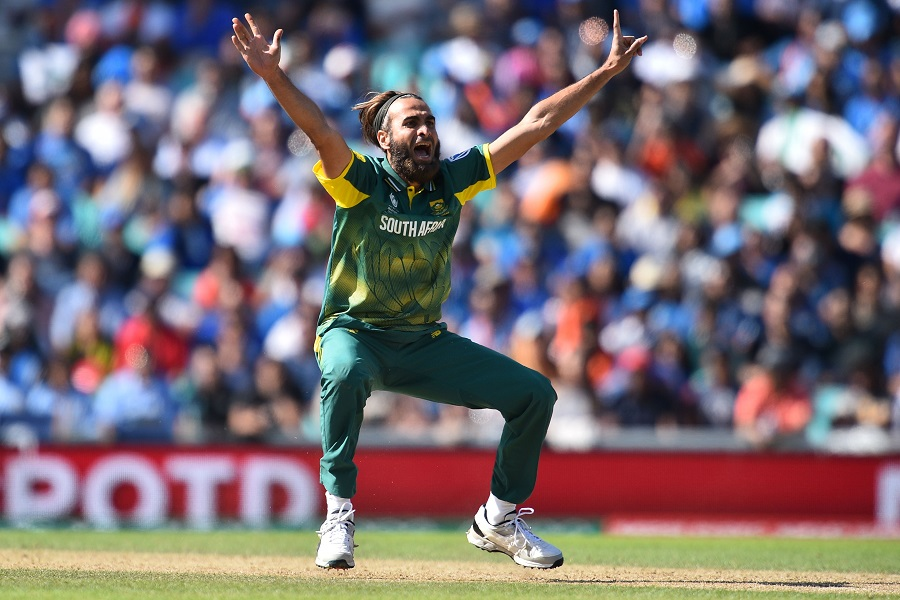 Imran Tahir roars an appeal, India v South Africa, Champions Trophy 2017, Group B, The Oval, London, June 11, 2017