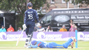 Zane Green botched a stumping attempt with Craig Wallace on 19, Scotland v Namibia, ICC WCL Championship, Edinburgh, June 11, 2017