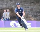 Richie Berrington pulls through midwicket during his century off 84 balls, Scotland v Namibia, ICC WCL Championship, Edinburgh, June 11, 2017