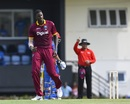 Jason Holder celebrates the wicket of Noor Ali Zadran, West Indies v Afghanistan, 2nd ODI, Gros Islet, June 11, 2017