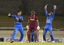 Rashid Khan foxed Evin Lewis with a googly, West Indies v Afghanistan, 2nd ODI, Gros Islet, June 11, 2017