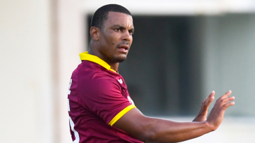 Shannon Gabriel reacts in the field