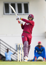 Kieran Powell launches one into the leg side, West Indies v Afghanistan, 2nd ODI, Gros Islet, June 11, 2017