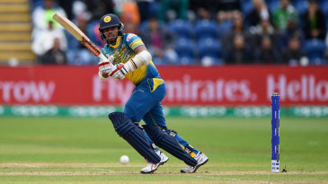 Kusal Mendis uses his wrists to pick up a boundary on the leg side