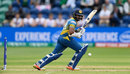 Niroshan Dickwella drops one into the leg side with soft hands, Sri Lanka v Pakistan, Champions Trophy 2017, Group B, Cardiff, London, June 12, 2017