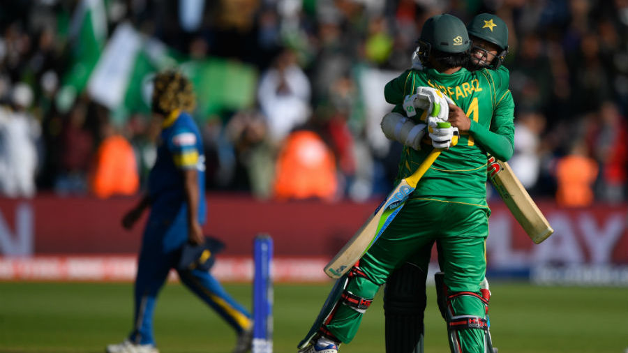 Mohammed Amir and Sarfraz Ahmed's record eight-wicket stand saw Pakistan home, Sri Lanka v Pakistan, Champions Trophy, Group B, Cardiff, June 12, 2017