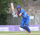 Gerhard Erasmus drives through mid-on, Scotland v Namibia, ICC WCL Championship, Edinburgh, June 12, 2017