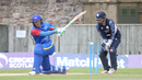 Sarel Burger is bowled after missing a sweep, Scotland v Namibia, ICC WCL Championship, Edinburgh, June 12, 2017