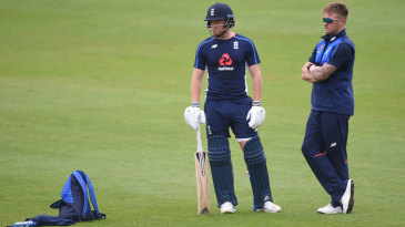 One in, one out? Jonny Bairstow and Jason Roy at England practice