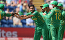 Rumman Raees celebrates his maiden ODI wicket, England v Pakistan, Champions Trophy, 1st semi-final, Cardiff, June 14, 2017