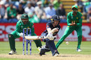 Eoin Morgan reverse-sweeps, England v Pakistan, Champions Trophy, 1st semi-final, Cardiff, June 14, 2017