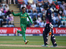 Shadab Khan claims the vital scalp of Joe Root, England v Pakistan, Champions Trophy, 1st semi-final, Cardiff, June 14, 2017