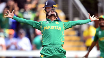 Star man: Hasan Ali enjoys the moment