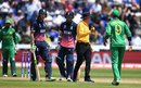 Ben Stokes appears keen to engage with Imad Wasim, England v Pakistan, Champions Trophy, 1st semi-final, Cardiff, June 14, 2017