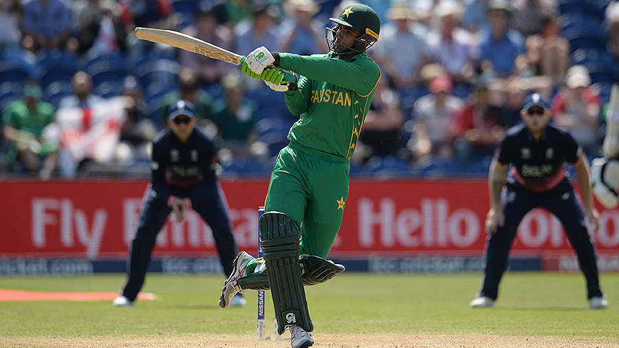 Fakhar Zaman was full of attacking intent as Pakistan chased 212, England v Pakistan, Champions Trophy, 1st semi-final, Cardiff, June 14, 2017