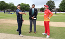 Kyle Coetzer spins the coin toss for the maiden ODI between the two sides, Scotland v Zimbabwe, 1st ODI, Edinburgh, June 15, 2017