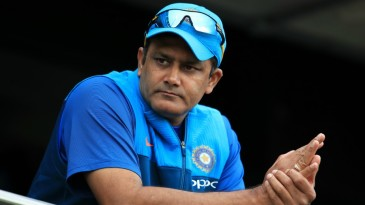 India coach Anil Kumble appeared calm before the start